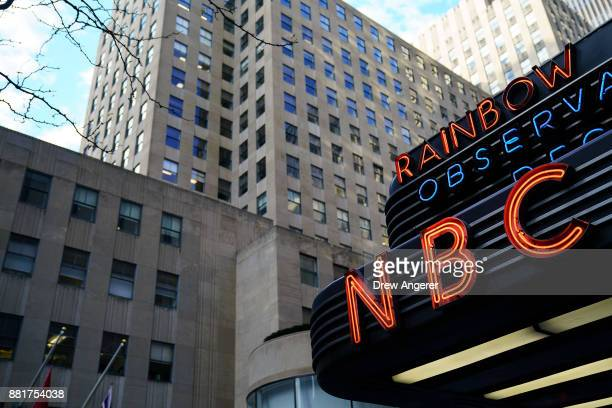 A view of signage on the entrance to NBC Studios November 29 2017 in New York City It was announced on Wednesday morning that long time Today Show...