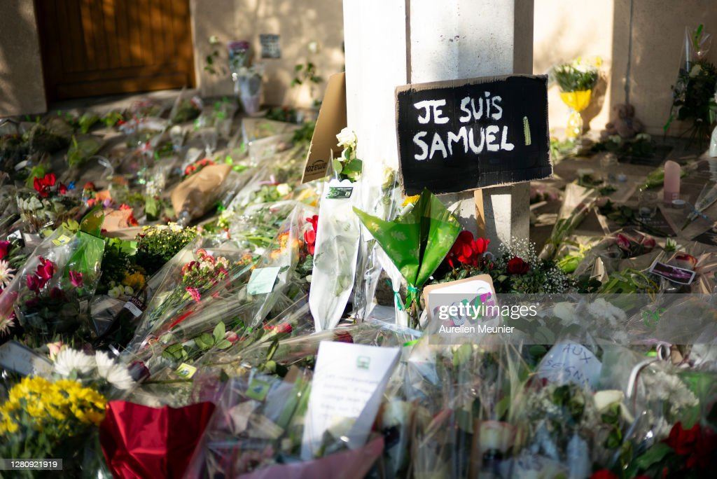 Vigil Held In Memory Of Teacher Murdered In Paris Suburb : News Photo