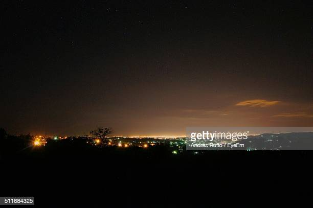 view of silhouette landscape against the sky - andres ruffo stockfoto's en -beelden