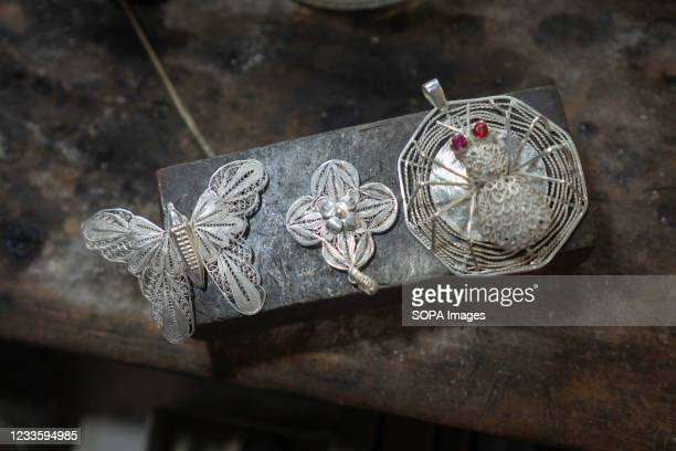 View of Silver jewelry. Kendari Werk jewelry is one of the many cultural treasures that Indonesia has. The meaning of the word 'Werk' itself comes...