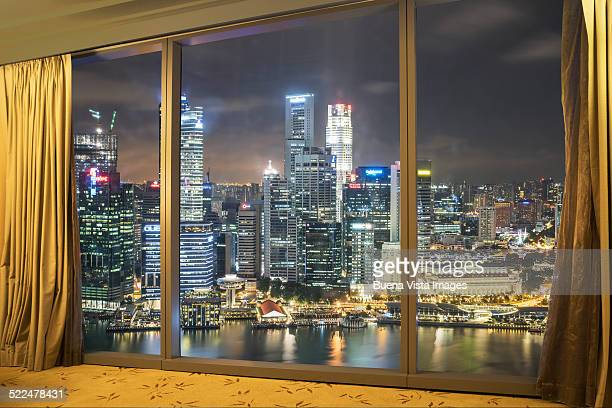 View of Singapore from hotel room