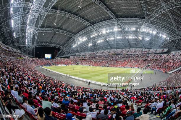 A view of Singapore National Stadium during the International Champions Cup match between FC Bayern and FC Internazionale on July 27 2017 in Singapore