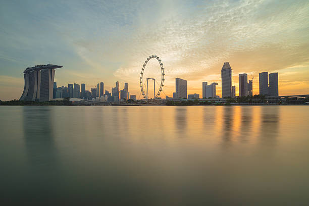 View Of Singapore Skyscraper Wall Art