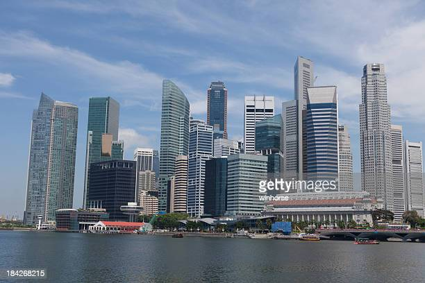 A view of Singapore's skyline from Marina Bay
