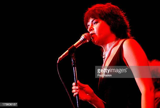View of singer Roseanne Cash performing Chicago Illinois May 3 1981