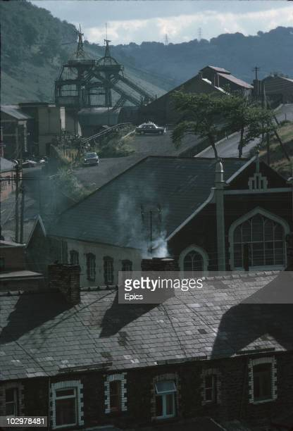 View of Six Bells Colliery, Gwent September 1969. In June 1960 45 men lost their lives when a gas and coal dust explosion occurred. The pit shut down...