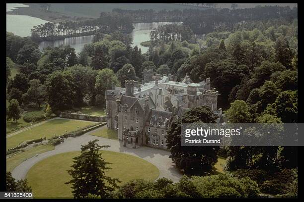 View of Skibo castle where the reception will be held on December 22 2000