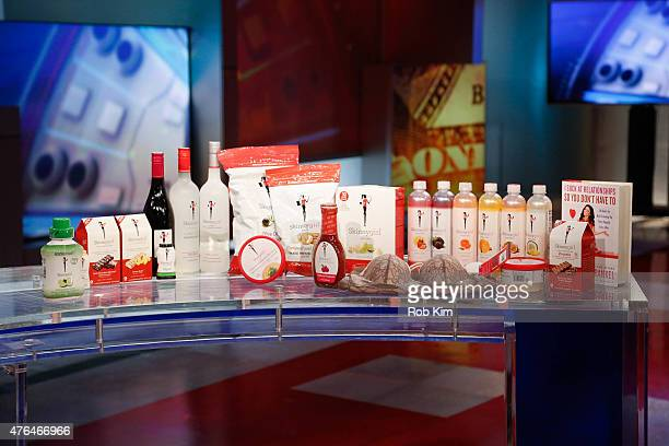 A view of Skinny Girl products on the set of 'After The Bell' on FOX Business Network at FOX Studios on June 9 2015 in New York City