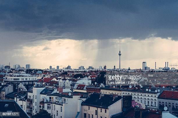 view of sky over city - kreuzberg stock photos and pictures
