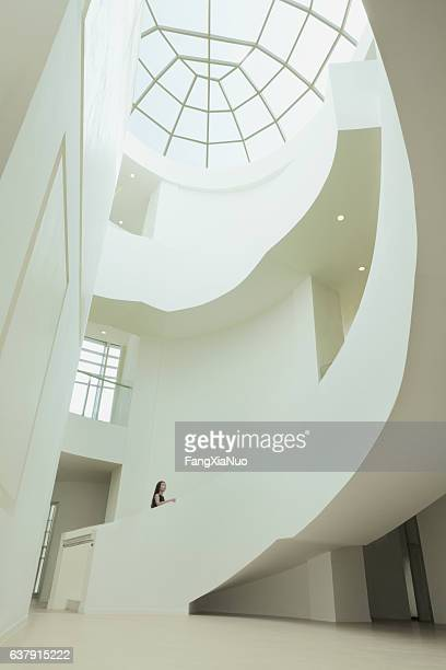 View of skylight and atrium in building