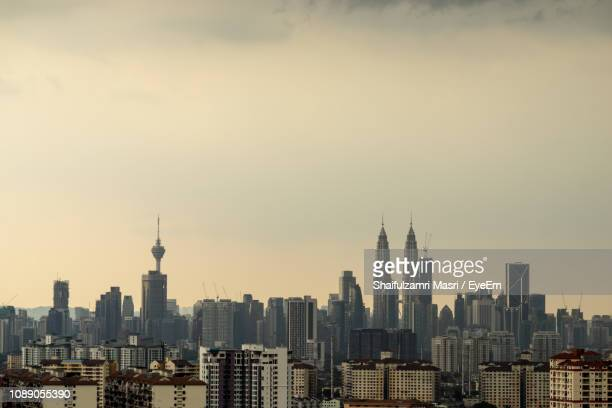 view of skyscrapers in city - shaifulzamri stock pictures, royalty-free photos & images