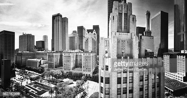 view of skyscrapers in city - james oneill stock photos and pictures