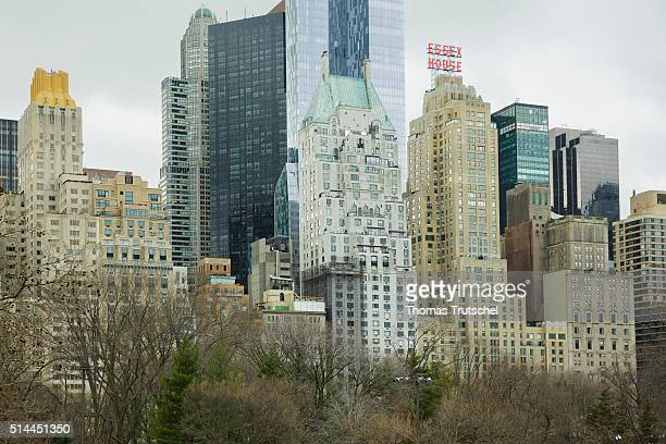 New York United States of America February 25 View of skyscrapers in Manhattan on February 25 2016 in New York United States of America