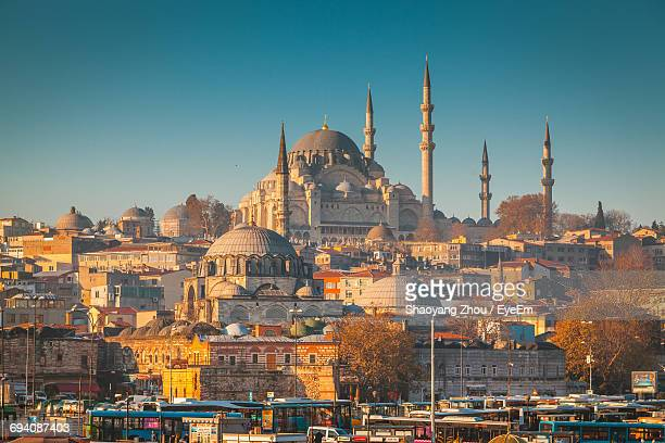 view of sleymaniye mosque against sky - istanbul photos et images de collection