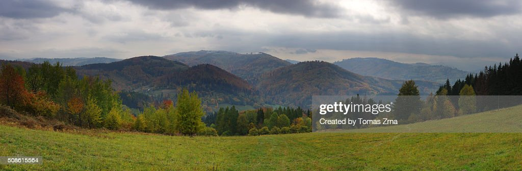 View of Slezske Beskydy : Stock Photo