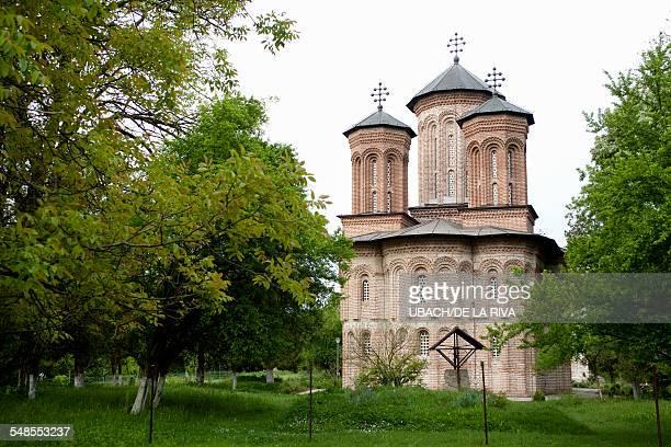View of Snagov Monastery near Bucharest, Romania
