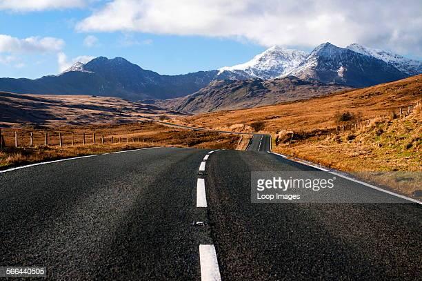 A view of Snowdonia's mountain range