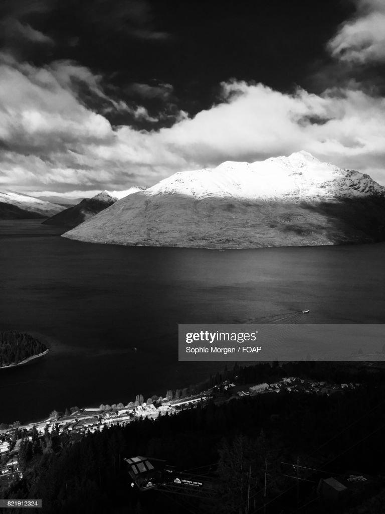 View of snowy mountain : Stock Photo