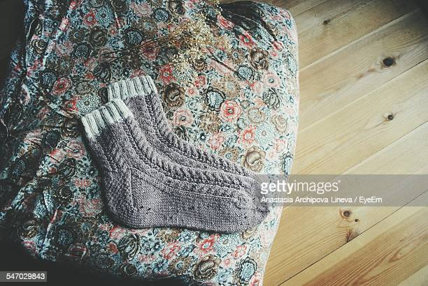 View Of Socks On Patterned Textile