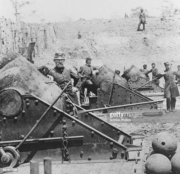 A view of soldiers during the Siege of Yorktown Virginia circa 1862