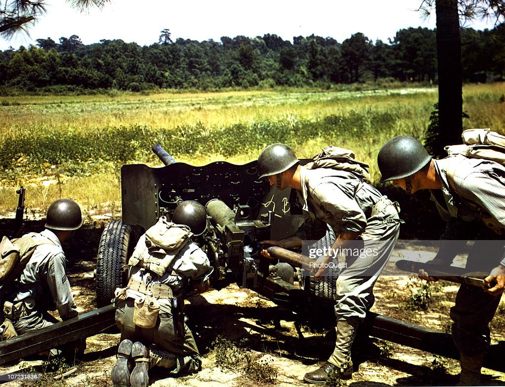 crew firing 57mm anti tank gun pictures getty images