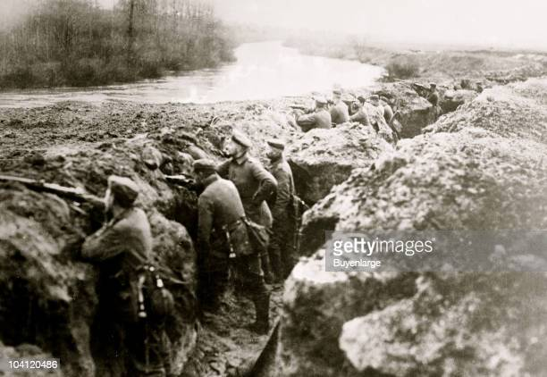 View of soldiers posted at the German trenches on the Aisne ca1915 Aisne is one of the original 83 departments created during the French Revolution...