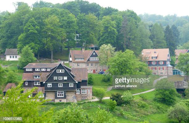 A view of some of the buildings of private boarding school Odenwaldschule in OberHambach near Heppenheim Germany 29 April 2014 After new accusations...