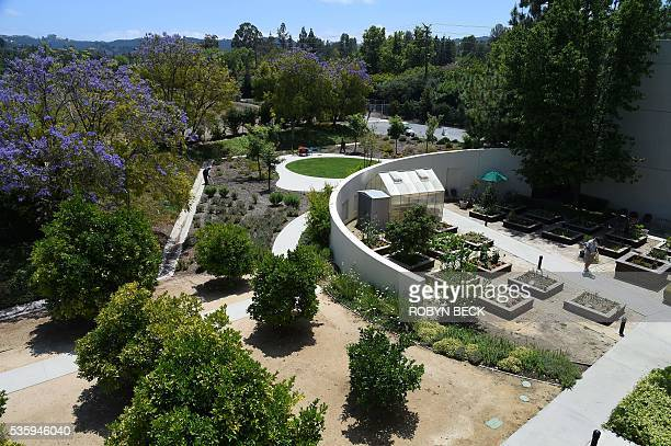 A view of some of the grounds at the Motion Picture Television Fund Wasserman campus May 16 2016 in Woodland Hills California about 22 miles west of...