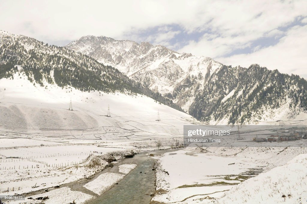 Snowfall In Sonmarg Kashmir