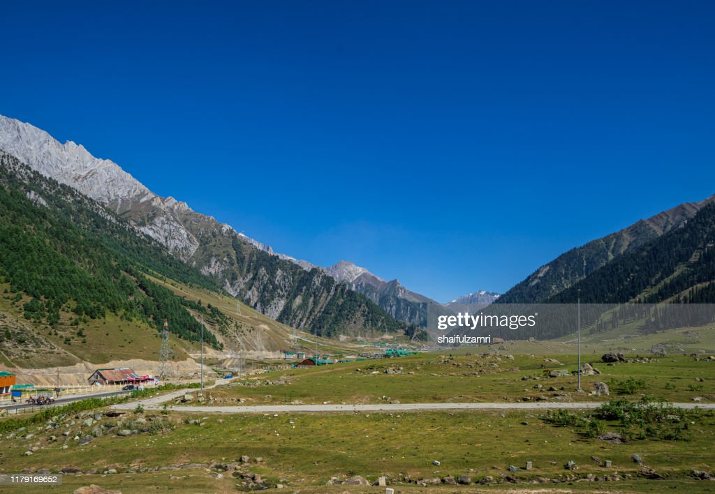 View of Sonamarg valley in Kashmir, India : Stock Photo