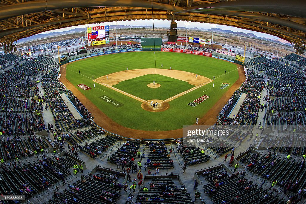 View of Sonora Stadium prior to a match between Republica Dominicana and Venezuela as part of the Caribbean Series 2013 at Sonora Stadium on february 06, 2013 in Hermosillo, Mexico.
