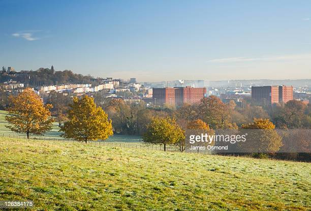 View of South Bristol from Ashton Court. North Somerset. England. UK.
