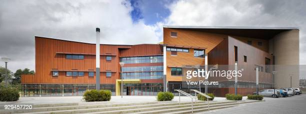 View of south facade showing entrance Irish World Academy of Music and Dance Limerick Ireland Architect Daniel Cordier 2010