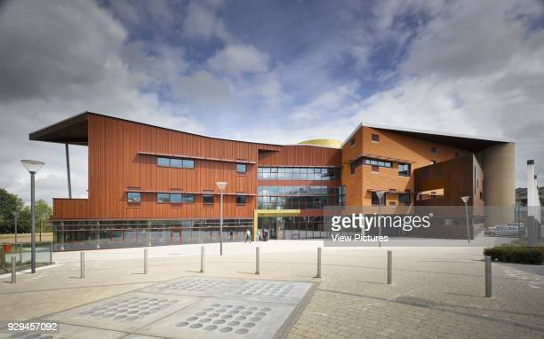 View of south facade showing plaza Irish World Academy of Music and Dance Limerick Ireland Architect Daniel Cordier 2010
