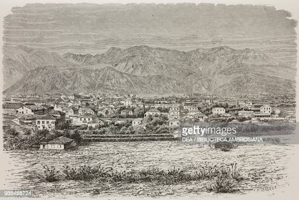 View of Sparta and of the mountain range of Taygetos Greece illustration from Histoire des grecs volume 1 Formation du peuple grec by Victor Duruy