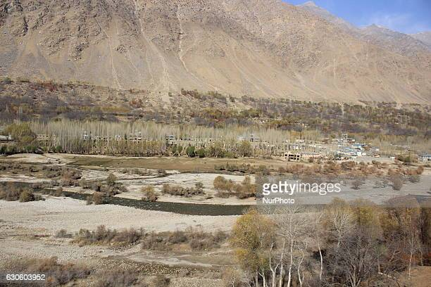 View of spectacular scenery Shuhada District, one of the 29 districts of Badakhshan Province in eastern Afghanistan on 28 December 2016. This region...