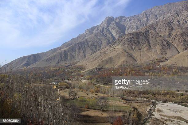 View of spectacular scenery Shuhada District one of the 29 districts of Badakhshan Province in eastern Afghanistan on 28 December 2016 This region...