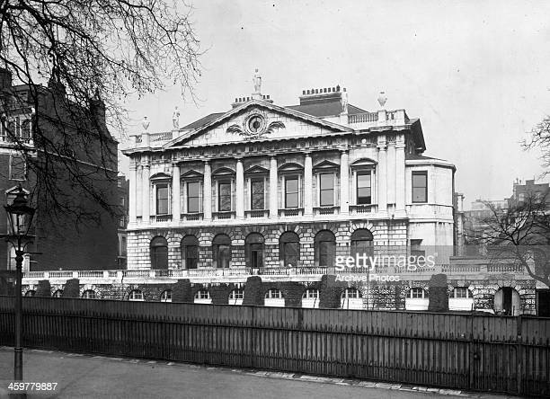 A view of Spencer House the historical mansion of the Earls of Spencer in London England Circa 1950