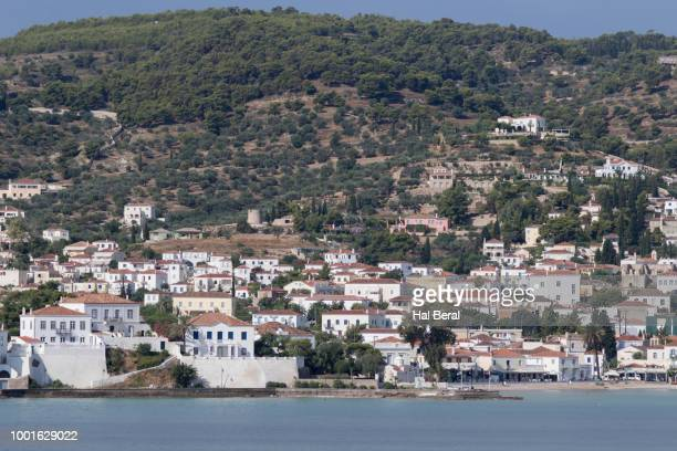 view of spetses town - spetses stock pictures, royalty-free photos & images