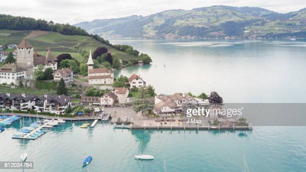 view of spiez - swaziland stock photos and pictures