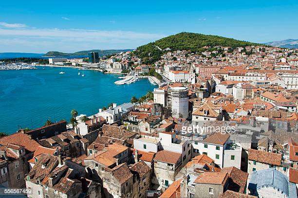 View of Split from St. Dominus campanile, Croatia