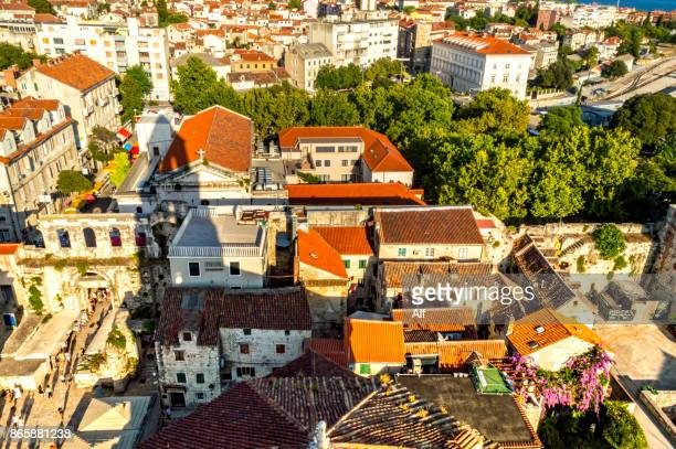 View of Split from the tower of St. Domnius Cathedral, Croatia