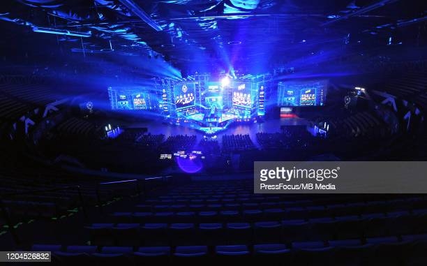 View of Spodek Arena during Counter-Strike: Global Offensive Final game between G2 Esports and Natus Vincere during ESL Intel Extreme Masters 2020 at...