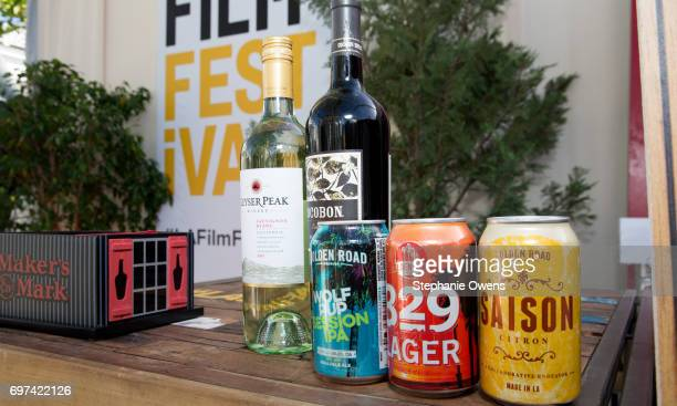 A view of sponsor beverages during the Women Filmmakers Event during 2017 Los Angeles Film Festival at Festival Lounge on June 16 2017 in Culver City...