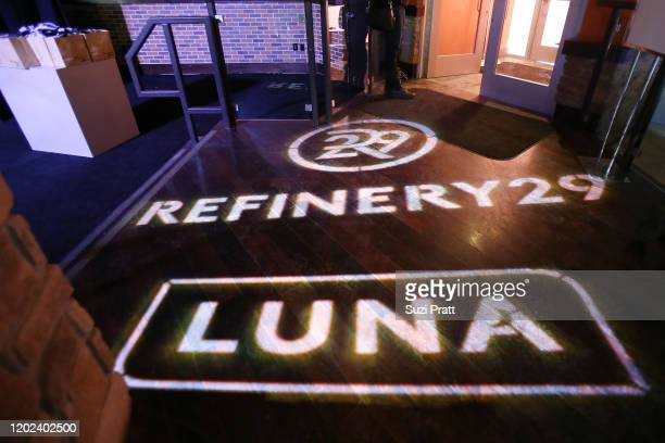 View of spotlight signage at the 2020 Women at Sundance Celebration hosted by Sundance Institute and Refinery29, Presented by LUNA at Juniper at...