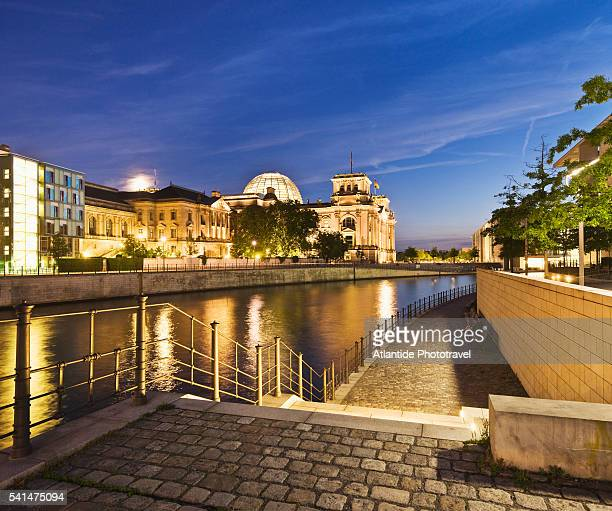 View of Spree River near the Reichstag (Parliament Building)