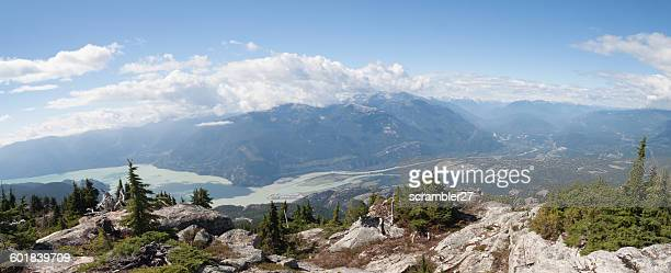 View of Squamish River emptying into Howe Sound, British Columbia, Canada