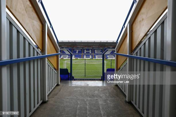 View of St Andrews as seen as you walk through an entrance to the stands during the Sky Bet Championship match between Birmingham City and Millwall...