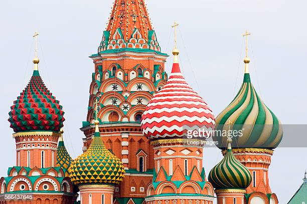 A view of St Basils Cathedral in Red Square