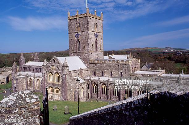 View of St David's Cathedral St Davids Pembrokeshire Wales 12th19th century